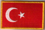 Turkey Embroidered Flag Patch, style 08.